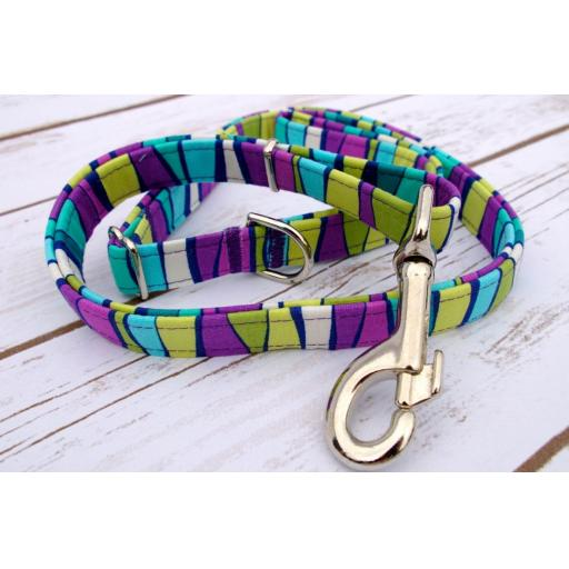 Purple And Aqua Ribbon Lead