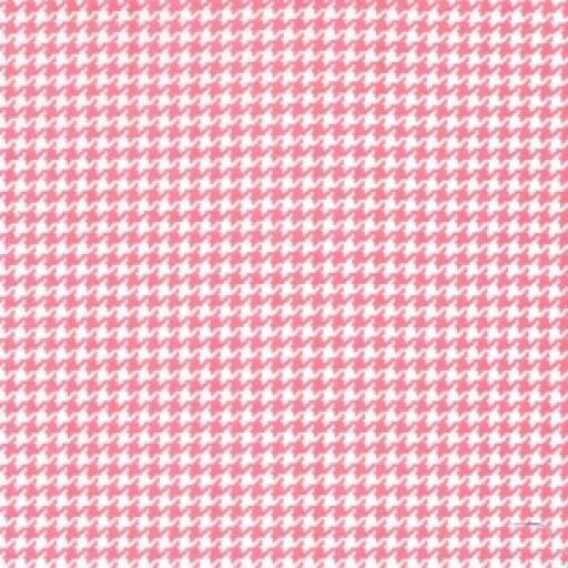 Pink Houndstooth