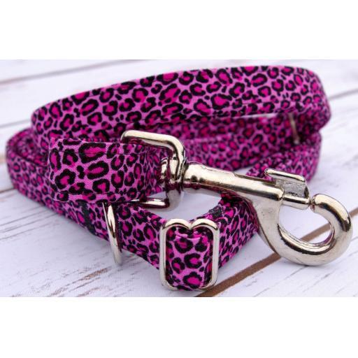 Pink Leopard Print Lead
