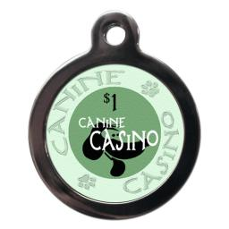 Green Canine Casino Tags