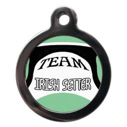 Team Irish Setter Name Tag
