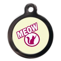 Yellow Meow Cat Tag