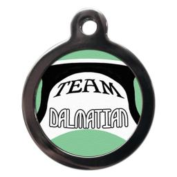 Team Dalmatian Name Tag