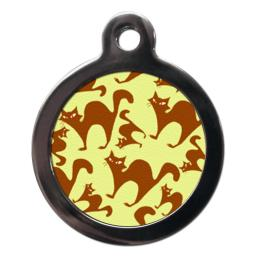 Funky Cat Pattern Cat Tag