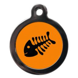 Orange Fishbone Cat Entity Tags
