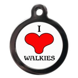I Love Walkies Tags