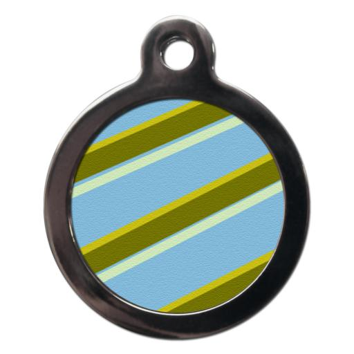 Blue & Green Stripes Tags