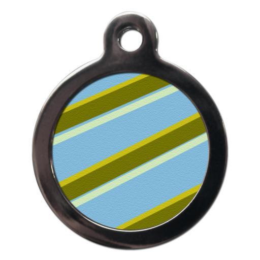 Blue & Green Stripes Tags
