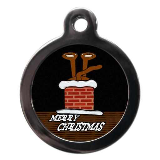 Stuck In Chimney Christmas Tag