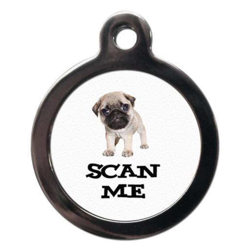 Scan Me Pug Tags