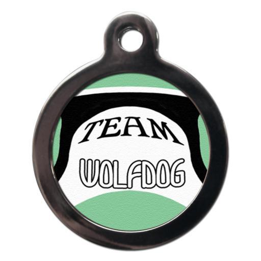 Team Wolfdog Pet Name Tag
